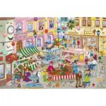 Puzzle  Schmidt-Spiele-56150 Bibi Blocksberg und der verhexte Markt