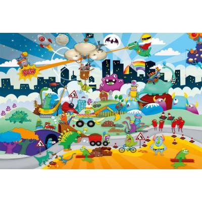 Puzzle Schmidt-Spiele-56154 Kleine Helden