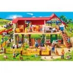 Puzzle  Schmidt-Spiele-56163 Playmobil, Bauernhof, inklusive Figur