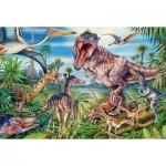 Puzzle  Schmidt-Spiele-56193 Bei den Dinosauriern