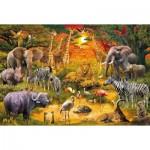 Puzzle  Schmidt-Spiele-56195 Tiere in Afrika
