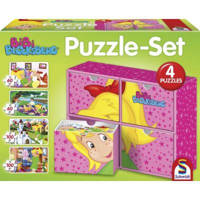 Schmidt-Spiele-56501 4 Puzzles - Bibi Blocksberg