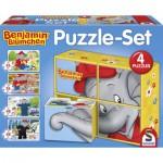 Schmidt-Spiele-56502 4 Puzzles - Benjamin Blümchen