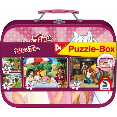 Schmidt-Spiele-56509 4 Puzzles - Bibi & Tina