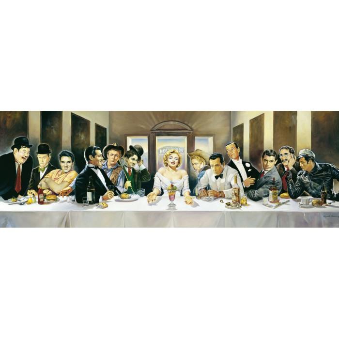 1000 Teile Panoramapuzzle - Renator Casaro: Dinner der Berühmten
