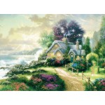 Puzzle  Schmidt-Spiele-57443 Thomas Kinkade: Das Haus am Meer
