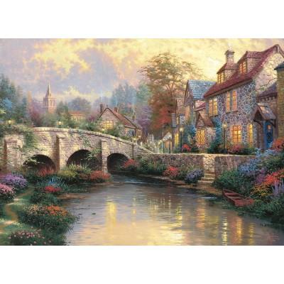 Puzzle Schmidt-Spiele-57466 Bei der alten Brücke