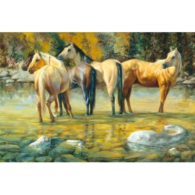 Puzzle Schmidt-Spiele-58168 Liebe unter Pferden