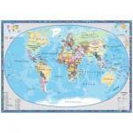 Puzzle  Schmidt-Spiele-58186 Politische Weltkarte