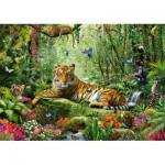 Puzzle  Schmidt-Spiele-58188 Tiger im Dschungel