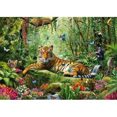 Puzzle Schmidt-Spiele-58188 Tiger-Dschungel