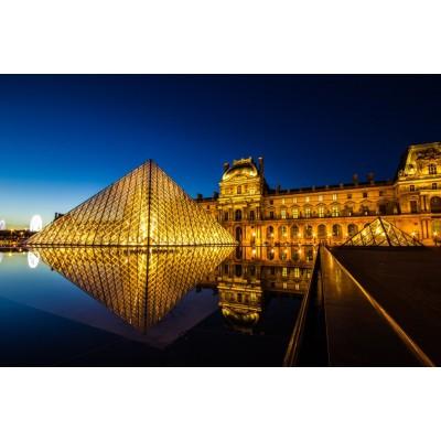 Puzzle Schmidt-Spiele-58199 Louvre bei Nacht