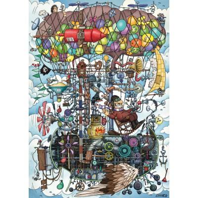 Puzzle Schmidt-Spiele-58207 Gumperts Wimmelflugmaschine