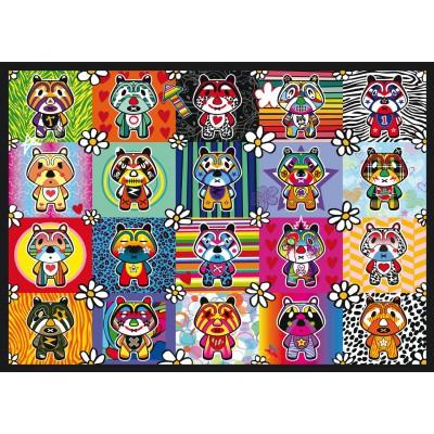 Puzzle Schmidt-Spiele-58215 Tantan & Momo