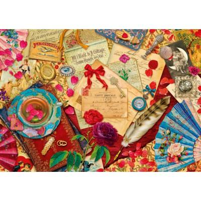 Puzzle Schmidt-Spiele-58218 Vintage Liebesbriefe