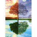 Puzzle  Schmidt-Spiele-58223 Jahreszeiten Baum