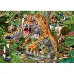 Puzzle  Schmidt-Spiele-58226 Tiger Angriff