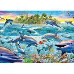 Puzzle  Schmidt-Spiele-58227 Riff der Delfine