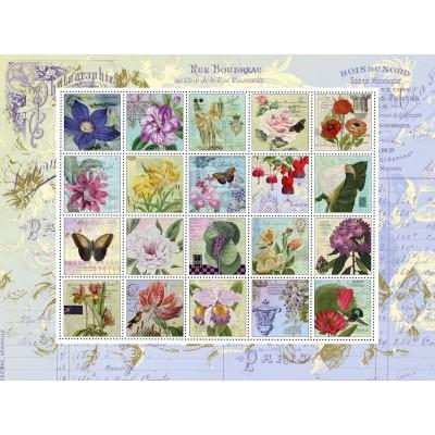 Puzzle Schmidt-Spiele-58229 Nostalgie Briefmarken