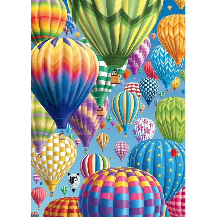 Bunte Ballone im Himmel