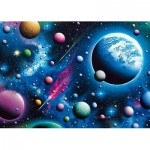 Puzzle  Schmidt-Spiele-58290 Traumhaftes Weltall