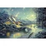 Puzzle  Schmidt-Spiele-58453 Winterliches Mondlicht