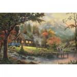 Puzzle  Schmidt-Spiele-58465 Idylle am Fluss