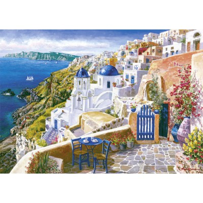 Puzzle Schmidt-Spiele-58560 Blick von Santorin