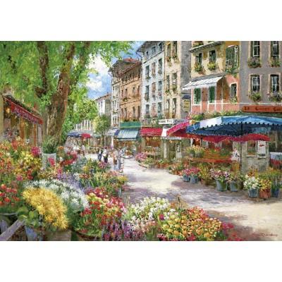 Puzzle Schmidt-Spiele-58561 Paris, Blumenmarkt
