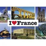 Puzzle  Schmidt-Spiele-59282 I love France