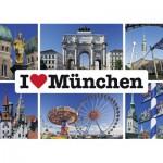 Puzzle  Schmidt-Spiele-59284 I love München