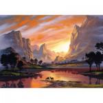Puzzle  Schmidt-Spiele-59320 Jon Rattenbury, Tal im goldenen Licht