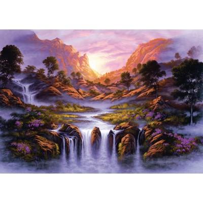 Puzzle Schmidt-Spiele-59321 Jon Rattenbury, Traumhafter Wasserfall