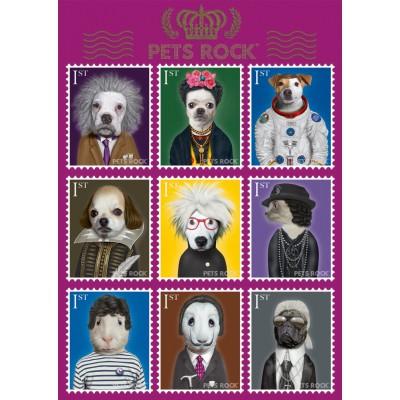 Puzzle Schmidt-Spiele-59345 Pets Rock, Kunst