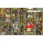 Puzzle  Schmidt-Spiele-59355 Colin Thompson, Fantastisches Stadtbild