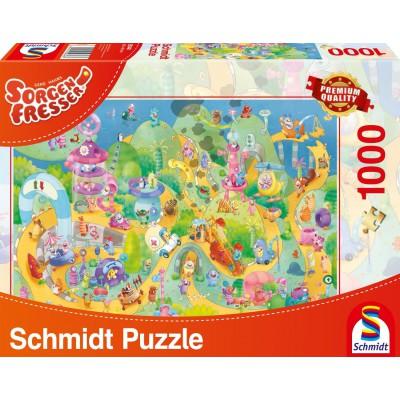 Puzzle Schmidt-Spiele-59368 Sorgenfresser: Auf die Plätze fertig, los!