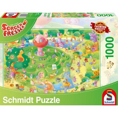 Puzzle Schmidt-Spiele-59370 Sorgenfresser, Im Labyrinth