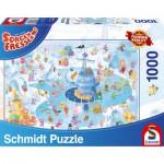 Puzzle  Schmidt-Spiele-59371 Sorgenfresser, Winterspaß