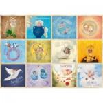 Puzzle  Schmidt-Spiele-59380 Anne Geddes - Sternzeichen-Babys