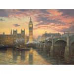 Puzzle  Schmidt-Spiele-59471 Kinkade Thomas : Abendstimmung, London