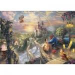 Puzzle  Schmidt-Spiele-59475 Thomas Kinkade - Disney Die Schöne und das Biest