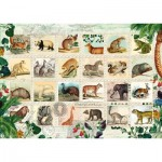 Puzzle   Tierische Briefmarken