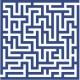Puzzle aus handgefertigten Holzteilen - Labyrinth