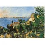 Puzzle aus handgefertigten Holzteilen - Cézanne