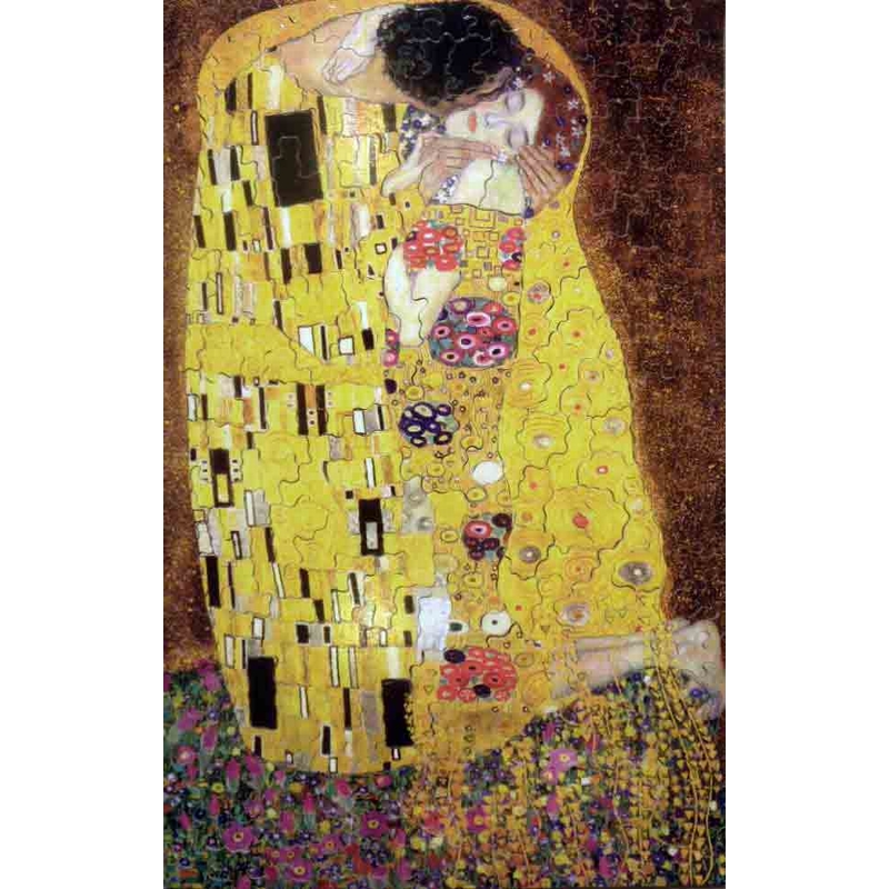 puzzle aus handgefertigten holzteilen gustav klimt der kuss 250 teile puzzle mich le. Black Bedroom Furniture Sets. Home Design Ideas