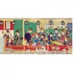 Puzzle aus handgefertigten Holzteilen - Utagawa - Shin Yoshiwara