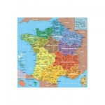 Puzzle aus Holz 24 handgefertigte Teile MAXI - Michèle Wilson - Frankreichkarte