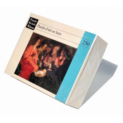 Puzzle-Michele-Wilson-A102-250 Puzzle aus handgefertigten Holzteilen - Georges De La Tour: Anbetung der Schäfer
