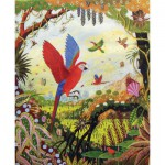 Puzzle-Michele-Wilson-A118-750 Puzzle aus handgefertigten Holzteilen - Alain Thomas: Ara im Flug