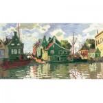 Puzzle-Michele-Wilson-A121-2500 Puzzle aus handgefertigten Holzteilen - Monet: Kanal in Zaandam